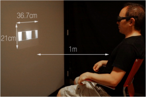 Perceptive validation of a realistic simulation of a material using virtual reality